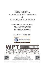 Installation Manual - Industrial Clutch Parts Limited
