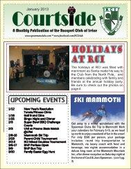 January 2013 - Spearman Clubs