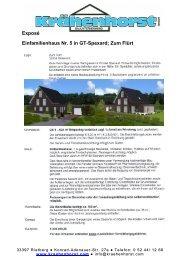 Einfamilienhaus Nr. 5 in GT-Spexard; Zum Flürt