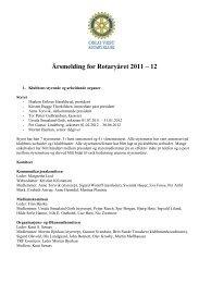 Årsmelding for Rotaryåret 2011 – 12 - Oslo Vest Rotary Klubb