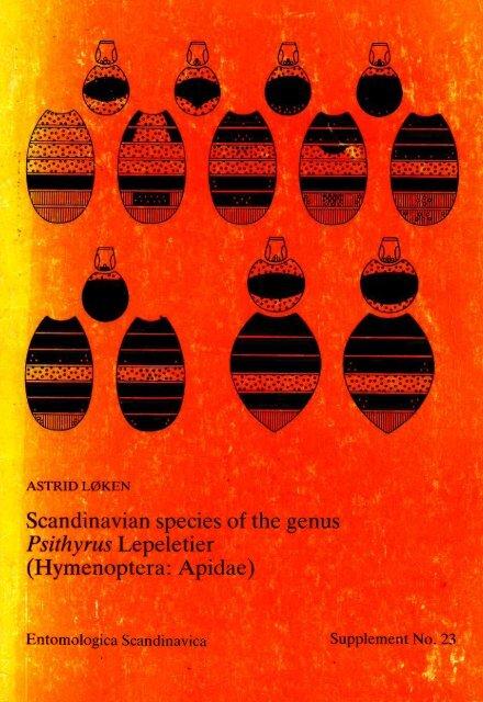 Scandinavian species of the genus Psithyrus Lepeletier ...
