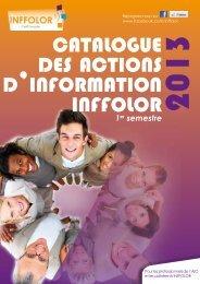 CATALOGUE DES ACTIONS D'INFORMATION INFFOLOR 2013