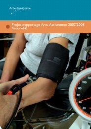 Arts-assistenten, Inspectierapport | 2008 | pdf ... - Inspectie SZW