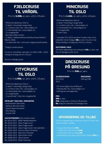 DagsCruise på ØresunD CityCruise tiL osLo ... - DFDS Seaways