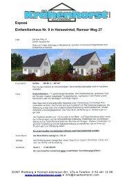 Exposé Einfamilienhaus Nr. 9 in Harsewinkel, Remser Weg 27