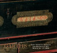 MARCH 26 - 27, 2010 - Garth's Auctions, Inc.
