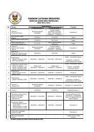 TAKWIM LATIHAN INDUSTRI - SST - Sekolah Sains & Teknologi
