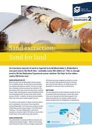 Factsheet Sand extraction - Maasvlakte 2