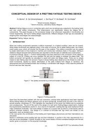 conceptual design of a fretting fatigue testing device - 5th ...