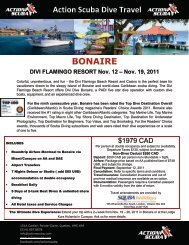 Action Scuba Dive Travel BONAIRE