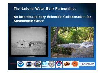 The National Water Bank Partnership: An Interdisciplinary Scientific ...