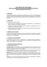guía técnica del evaluador para la acreditación de establecimientos ...