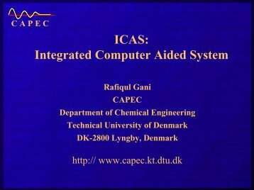 ICAS: Integrated Computer Aided System - CAPEC