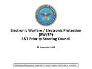 Electronic Warfare / Electronic Protection (EW/EP) S&T Priority ...