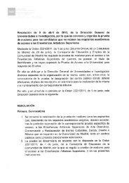 Convocatoria Prueba de Madurez 2013. Enseñanzas ... - emes