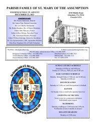 December 23, 2012 - St. Mary of the Assumption Parish