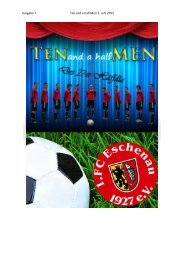 Ausgabe 7 Ten and a half Men 2. Juni 2012 - 1. FC Eschenau 1927 eV