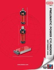 Pneumatic power cylinders - De-Sta-Co