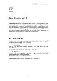 Basic Grammar Unit 2 - FindYourFeet.de