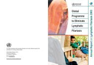 Global Programme to Eliminate Lymphatic Filariasis ... - libdoc.who.int