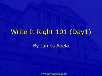 Writing Letters and Emails - James Abela ELT