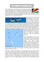 Seychellen, 5. September bis 5. Oktober 2004 - Wwrundfunk.de