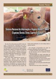 Sistema Nacional de Informação e Registo Animal - SNIRA - CNA
