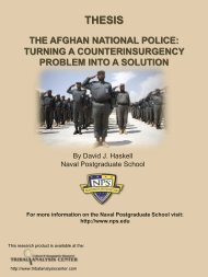 NPS-Afghan National Police - Tribal Analysis Center