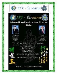 Invitation Letter - International Taekwon-Do Federation