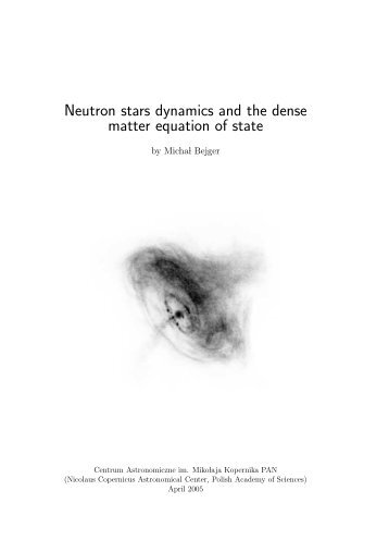 Neutron stars dynamics and the dense matter ... - Users' Pages