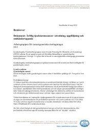 120511 Remissvar ärftlig tjocktarmscancer 2012 - SFOG