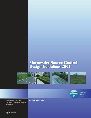 Stormwater Source Control Design Guidelines 2005 - Waterbucket