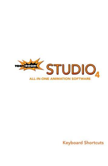 Toon Boom Studio V4 Keyboard Shortcuts - Toon Boom Animation