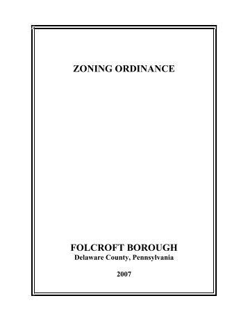 Folcroft Borough Zoning Ordinance - E-Library