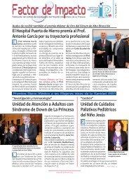 El Hospital Puerta de Hierro premia al Prof - Ibanezyplaza.com