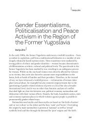Gender Essentialisms, Politization and Peace Activism in the Region ...