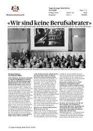 «Wir sind keine Berufsabrater» - Stadt Zürich
