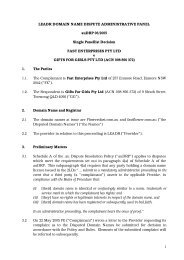 FAST ENTERPRISES PTY LTD v. GIFTS FOR GIRLS - auDA