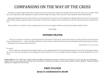 COMPANIONS ON THE WAY OF THE CROSS