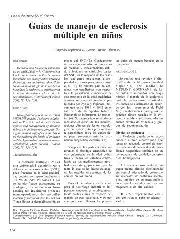 Guías de manejo de esclerosis múltiple en niños - Asociación ...