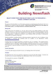 draft inspection checklist for class 2 to 9 buildings - Department of ...
