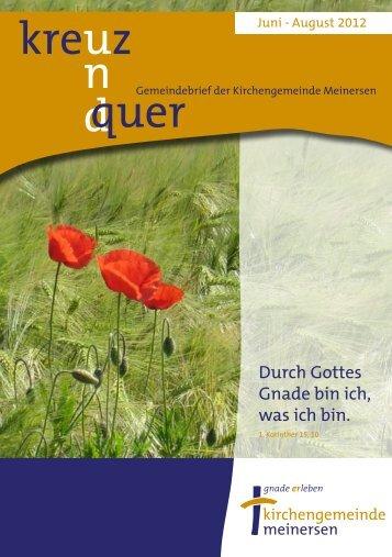 Ausgabe 3/2012 - Ev.-luth. Kirchengemeinde Meinersen