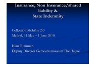 Buurman. Insurance, non insurance and State Indemnity