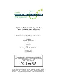 Wage inequality in international perspective - Food, Agriculture ...