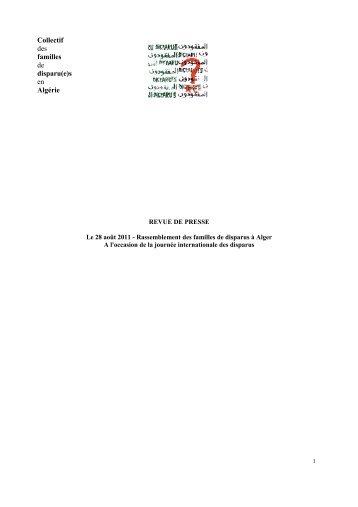 Collectif des familles de disparu(e)s en Algérie - Euromedrights