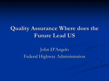 Quality Assurance Where does the Future Lead US - neaupg