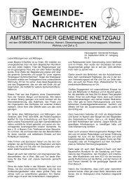 GEMEINDE- NACHRICHTEN - Knetzgau