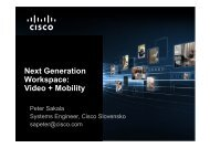 Cisco TelePresence - Datalan, a.s.