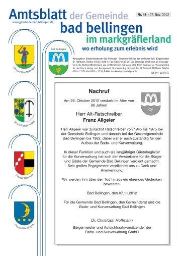 Nachruf - Gemeinde Bad Bellingen