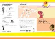 Information Runder Tisch »Stopp FGM in Berlin – Brandenburg« - FPZ